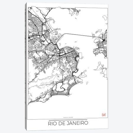 Rio De Janeiro Minimal Urban Blueprint Map Canvas Print #HUR318} by Hubert Roguski Canvas Art