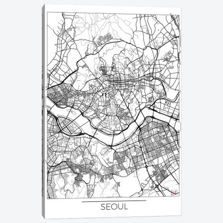 Seoul Minimal Urban Blueprint Map Canvas Print #HUR348} by Hubert Roguski Art Print
