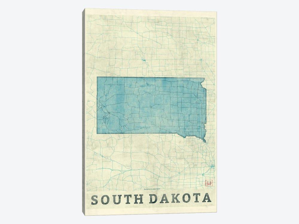 South Dakota Map by Hubert Roguski 1-piece Canvas Print