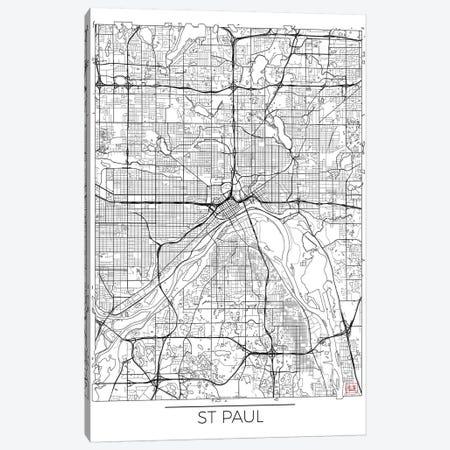 St. Paul Minimal Urban Blueprint Map Canvas Print #HUR365} by Hubert Roguski Canvas Art