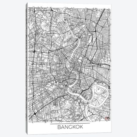 Bangkok Minimal Urban Blueprint Map Canvas Print #HUR36} by Hubert Roguski Art Print