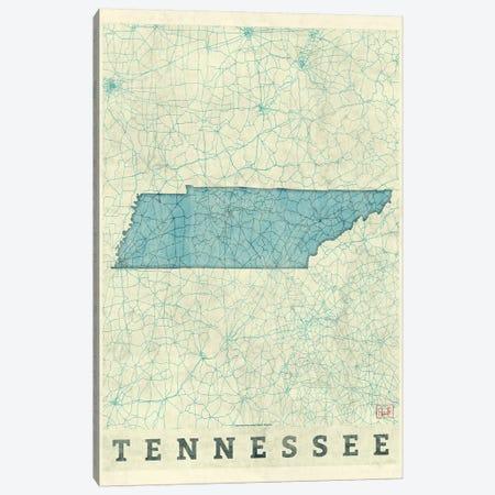 Tennessee Map 3-Piece Canvas #HUR374} by Hubert Roguski Canvas Print