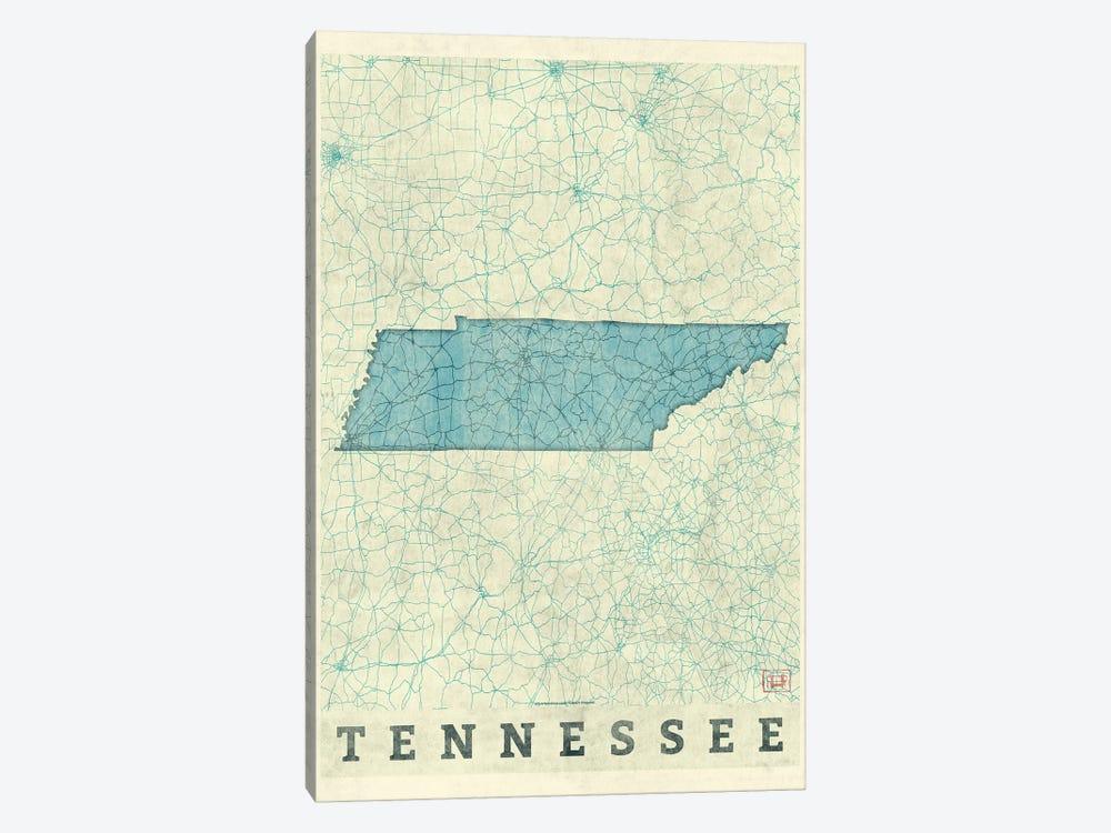 Tennessee Map by Hubert Roguski 1-piece Canvas Print