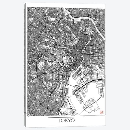 Tokyo Minimal Urban Blueprint Map Canvas Print #HUR377} by Hubert Roguski Art Print