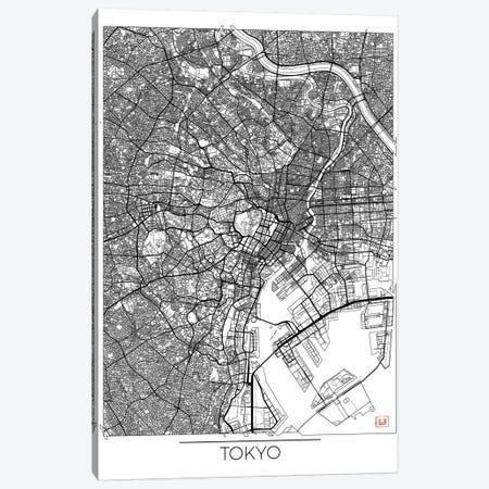 Tokyo Minimal Urban Blueprint Map Canvas Print #HUR377} by Hubert Roguski Art Print