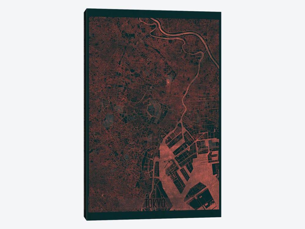 Tokyo Infrared Urban Blueprint Map by Hubert Roguski 1-piece Canvas Print