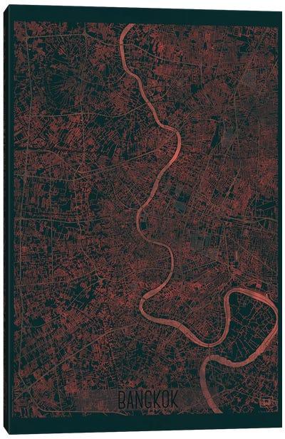 Bangkok Infrared Urban Blueprint Map Canvas Art Print