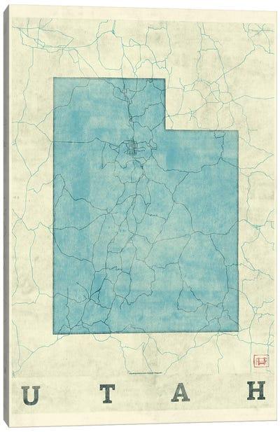 Utah Map Canvas Art Print