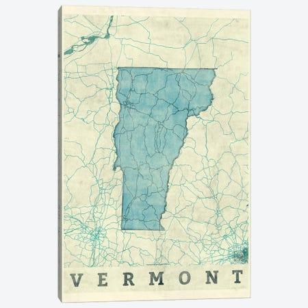 Vermont Map Canvas Print #HUR387} by Hubert Roguski Canvas Wall Art