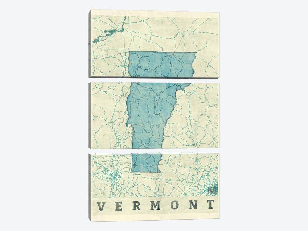 Vermont Map by Hubert Roguski 3-piece Art Print
