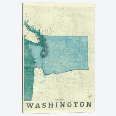 Washington Map Canvas Print #HUR389} by Hubert Roguski Canvas Print