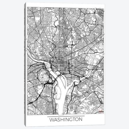 Washington, D.C. Minimal Urban Blueprint Map Canvas Print #HUR391} by Hubert Roguski Canvas Art