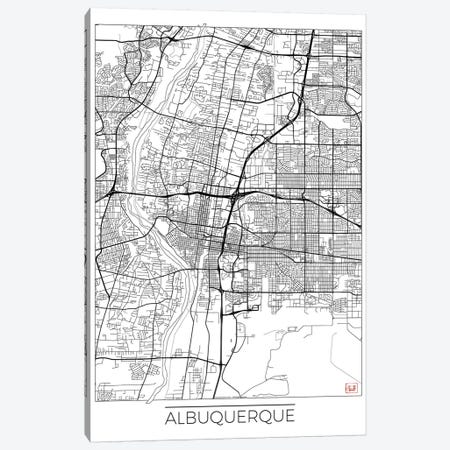 Albuquerque Minimal Urban Blueprint Map Canvas Print #HUR4} by Hubert Roguski Canvas Art Print