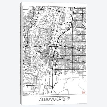 Albuquerque Minimal Urban Blueprint Map Canvas Print #HUR4} by Hubert Roguski Canvas Art Print