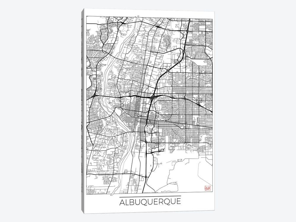 Albuquerque Minimal Urban Blueprint Map by Hubert Roguski 1-piece Art Print