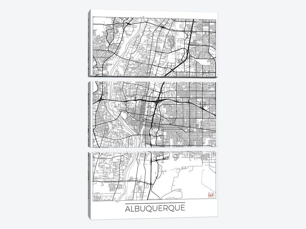 Albuquerque Minimal Urban Blueprint Map by Hubert Roguski 3-piece Art Print