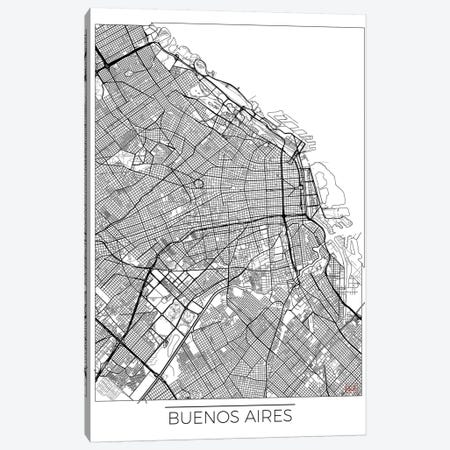 Buenos Aires Minimal Urban Blueprint Map Canvas Print #HUR66} by Hubert Roguski Canvas Artwork