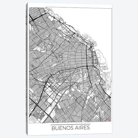 Buenos Aires Minimal Urban Blueprint Map Canvas Print #HUR66} by Hubert Roguski Canvas Artwork