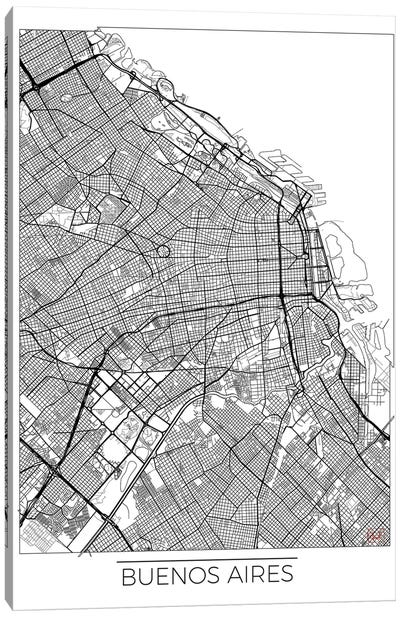 Buenos Aires Minimal Urban Blueprint Map Canvas Art Print