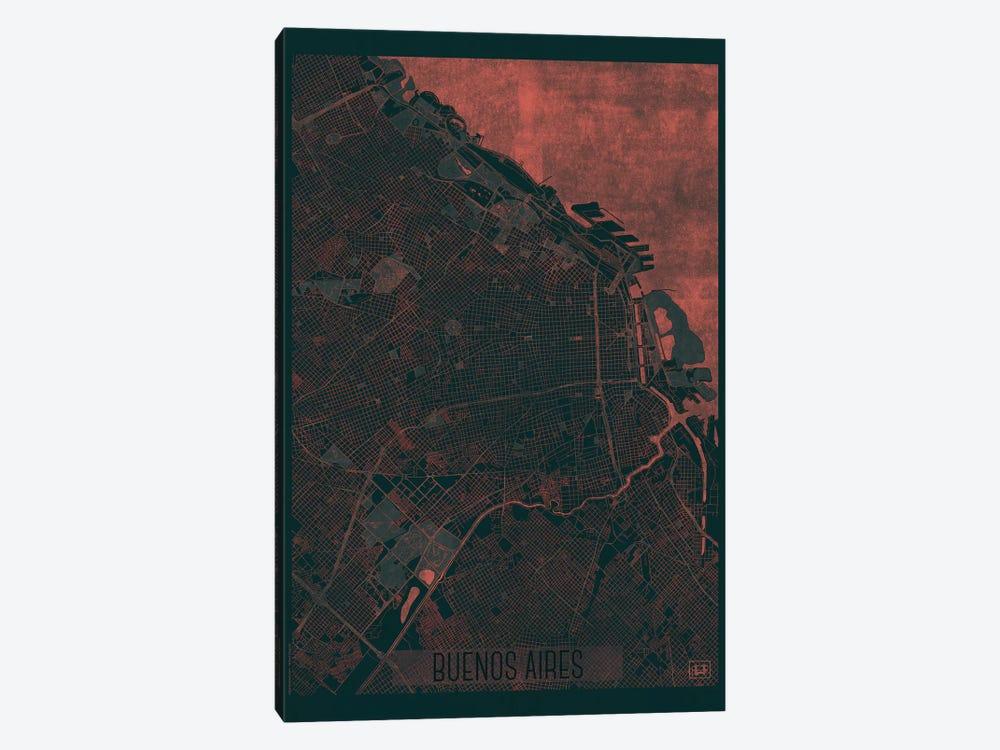 Buenos Aires Infrared Urban Blueprint Map by Hubert Roguski 1-piece Art Print