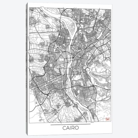 Cairo Minimal Urban Blueprint Map Canvas Print #HUR71} by Hubert Roguski Canvas Art