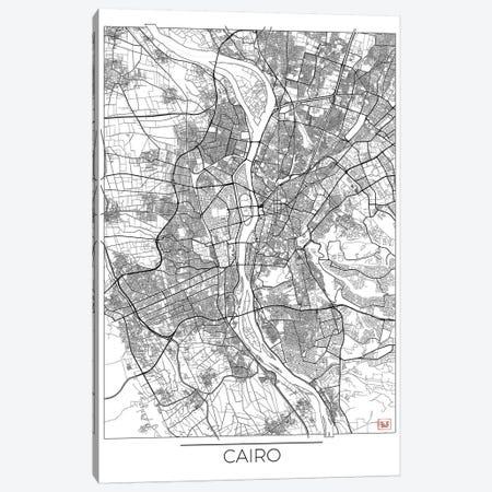 Cairo Minimal Urban Blueprint Map Canvas Print #HUR71} by Hubert Roguski Canvas Art