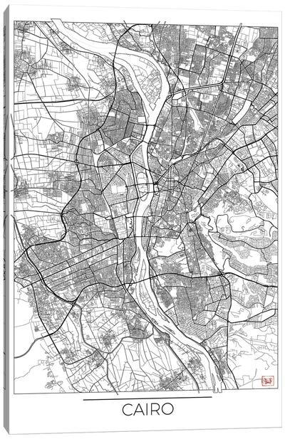 Cairo Minimal Urban Blueprint Map Canvas Art Print