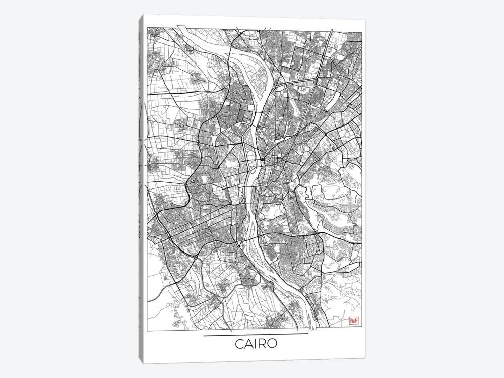 Cairo Minimal Urban Blueprint Map by Hubert Roguski 1-piece Canvas Art