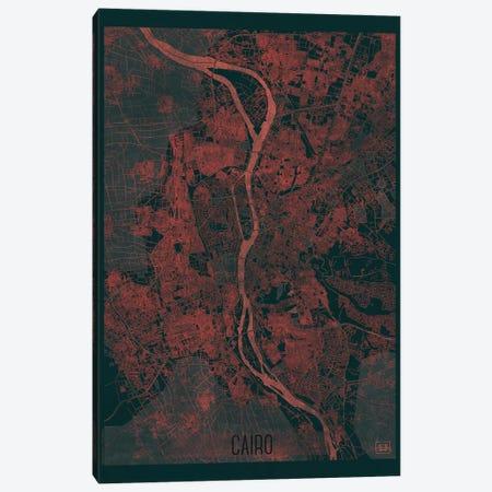 Cairo Infrared Urban Blueprint Map Canvas Print #HUR72} by Hubert Roguski Canvas Artwork