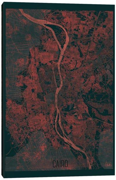 Cairo Infrared Urban Blueprint Map Canvas Art Print