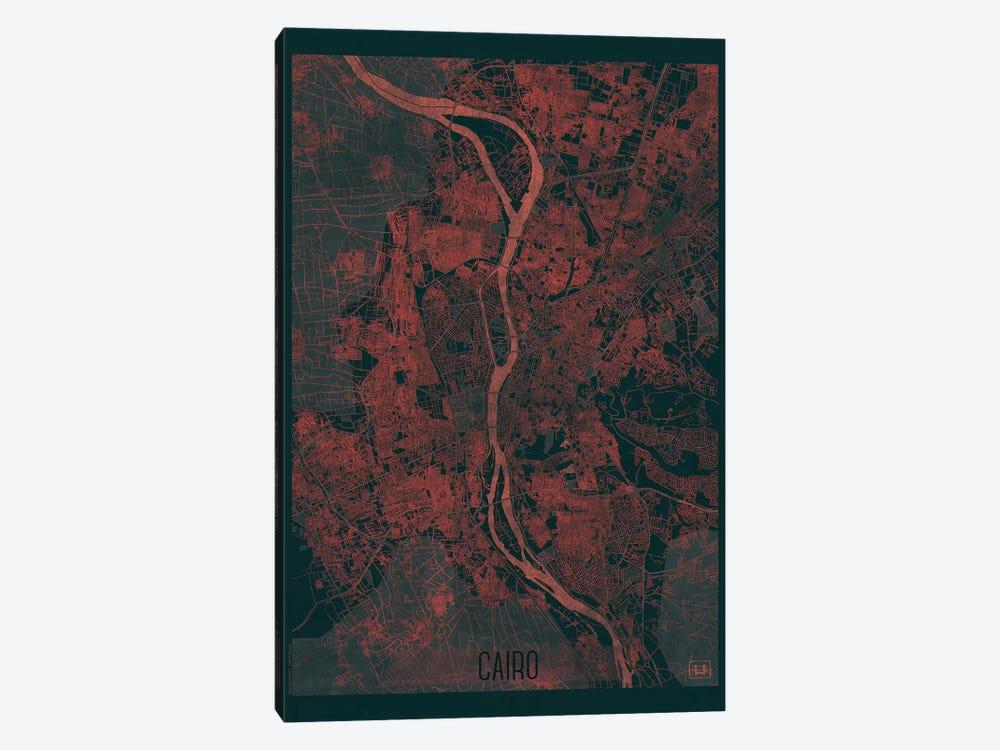 Cairo Infrared Urban Blueprint Map by Hubert Roguski 1-piece Canvas Print