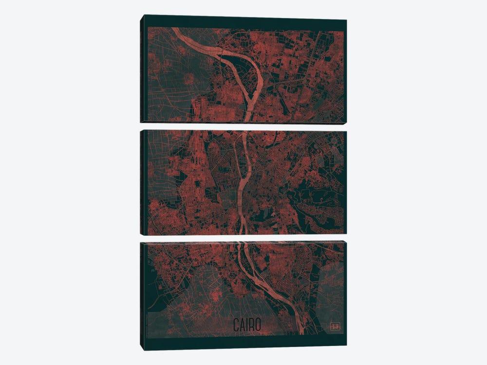 Cairo Infrared Urban Blueprint Map by Hubert Roguski 3-piece Art Print