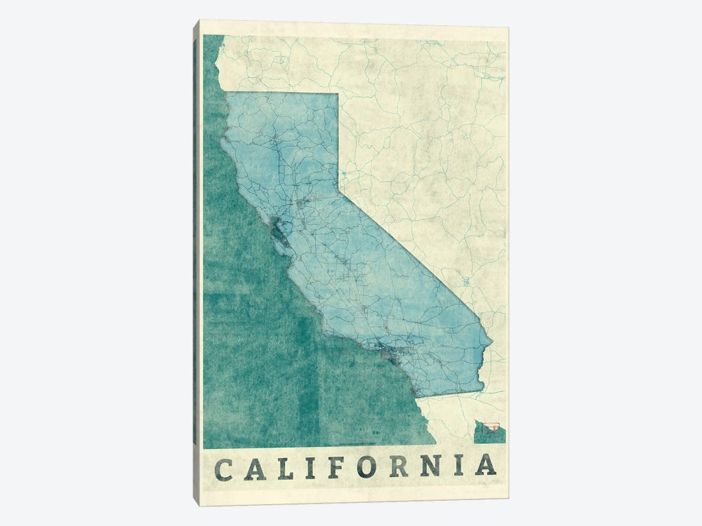 California Map 1-piece Canvas Art