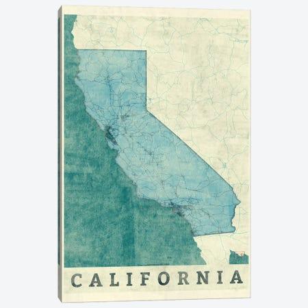California Map Canvas Print #HUR75} by Hubert Roguski Canvas Art Print