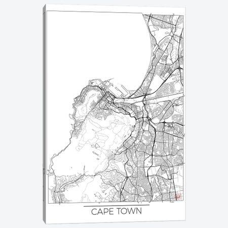 Cape Town Minimal Urban Blueprint Map Canvas Print #HUR77} by Hubert Roguski Canvas Art Print