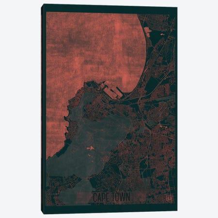 Cape Town Infrared Urban Blueprint Map Canvas Print #HUR78} by Hubert Roguski Canvas Artwork