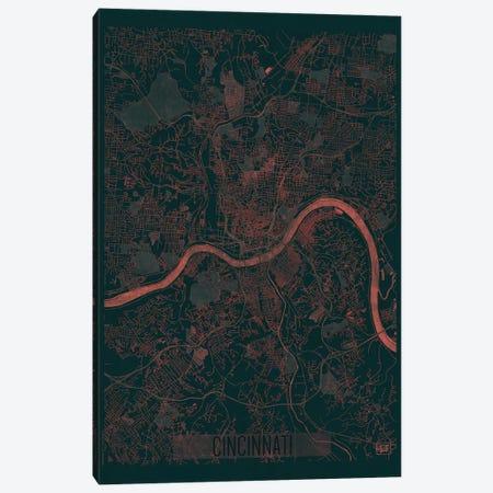 Cincinnati Infrared Urban Blueprint Map Canvas Print #HUR93} by Hubert Roguski Canvas Art