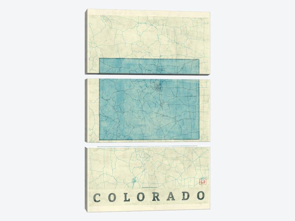 Colorado Map by Hubert Roguski 3-piece Art Print