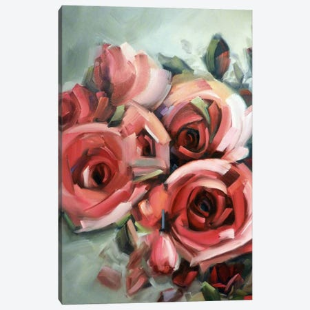 Amid The Scent Of Roses Canvas Print #HVH1} by Holly Van Hart Canvas Artwork