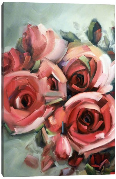 Amid The Scent Of Roses Canvas Art Print