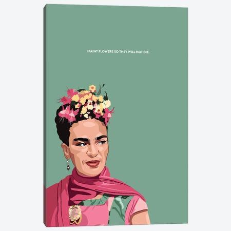 Frida Kahlo Illustration Canvas Print #HVW11} by Holly Van Wyck Art Print