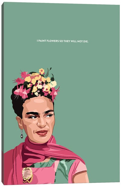Frida Kahlo Illustration Canvas Art Print