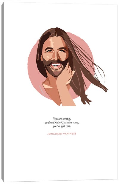 Jonathan Van Ness Illustration Canvas Art Print