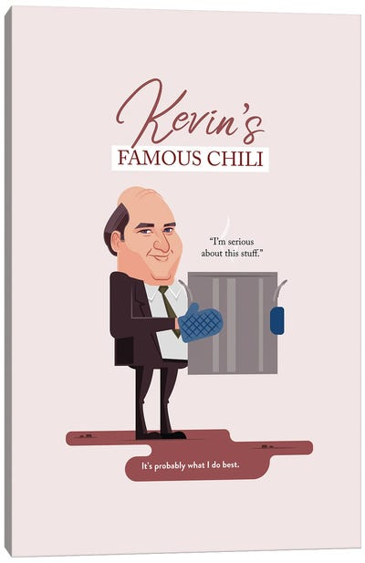 Kevin's Famous Chili The Office Illustration Canvas Art Print