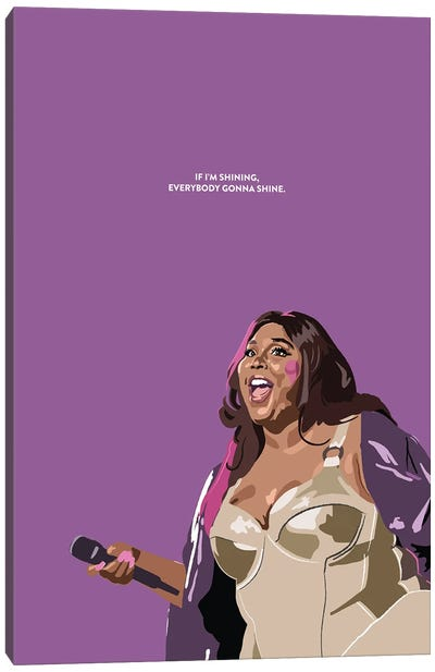 Lizzo Illustration Canvas Art Print