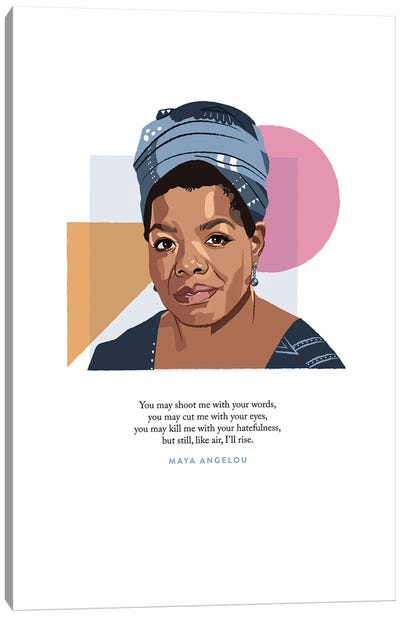 Maya Angelou Illustration Canvas Art Print