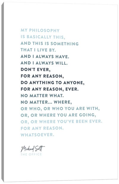 Michael Scott The Office Philosophy Canvas Art Print