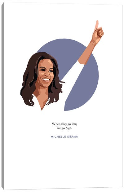 Michelle Obama Illustration Canvas Art Print
