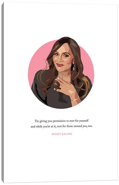 Mindy Kaling Illustration Canvas Art Print