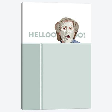 Mrs. Doubtfire Hello Illustration Canvas Print #HVW19} by Holly Van Wyck Canvas Print